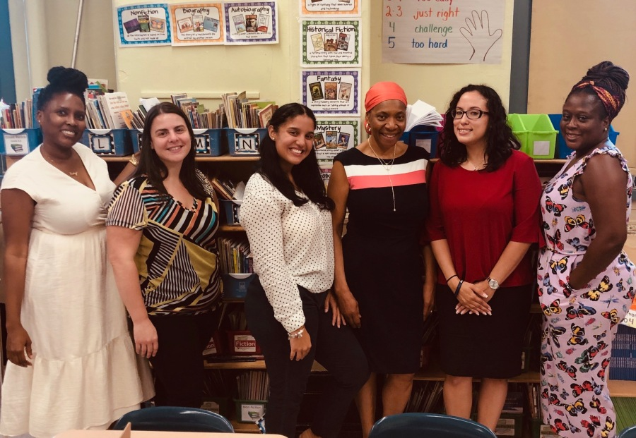 Ms. Black, Ms. Lopez, Ms. Colon, Ms. Neufville, Ms. Morales and Ms. Swinton, 5th Grade Teachers