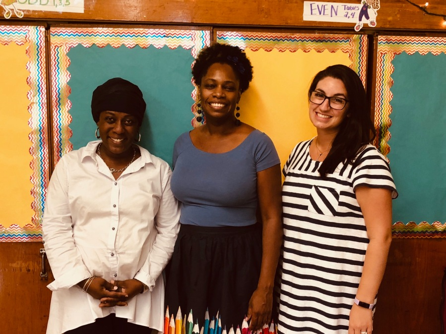 Ms. Muhammad, Ms. Hotte, and Ms. E. Jimenez, 4th Grade Teachers