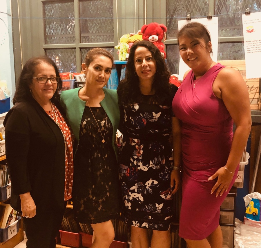 Ms. Bentancourt, Ms. Karshieva, Ms. Mendoza and Ms. Lee, 1st Grade Teachers